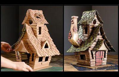 Fabriquer une maison de sorcière en carton : magnifique réalisation avec trois fois rien !
