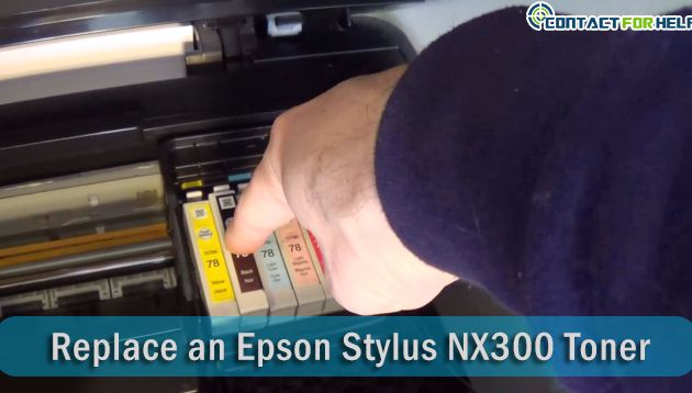 Directions to Replace an Epson Stylus NX300 Toner
