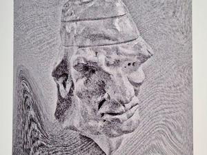 De la série Les Repentis, de Claude Darras, les variations 1 et 2, d'une même sculpture. (droits réservés g.glatt)
