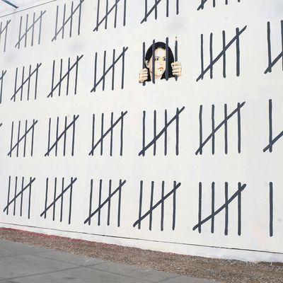 Une fresque signé par l'artiste Banksy pour soutenir la journaliste Zehra Dogan.