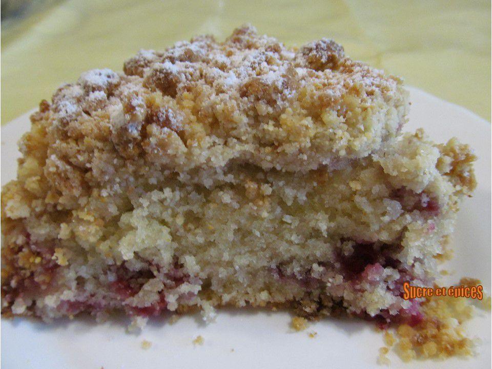 Gâteau citron framboises avec streusel - Recette en vidéo