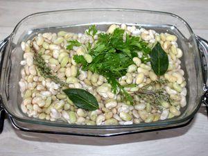 Soupe de blettes , haricots et boulettes de dinde