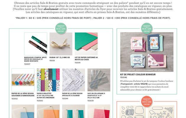 Promotion Sale-A-Bration : encore des nouveaux cadeaux !