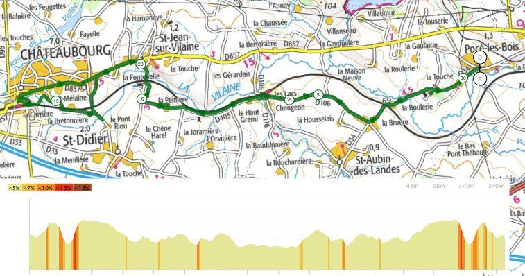 Au fil de la Vilaine - Etape 3 - Pocé-les-Bois / Chateaubourg - 30,8 km - A.R