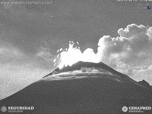 Popocatépetl - activity from 04.11.2019 / respectively to 21:58, 22:21 and 22:28 - WebcamsdeMexico / Cenapred - one click to enlarge thumbnails