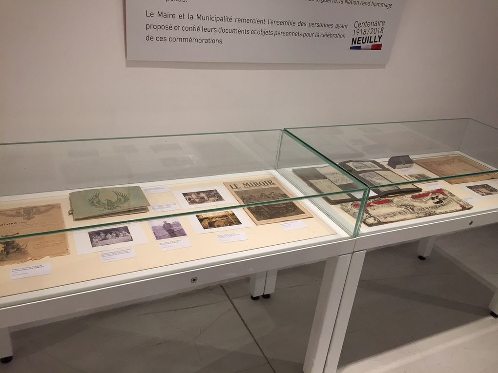 Visite de l'exposition au théâtre des sablons, le 13 octobre 2018.