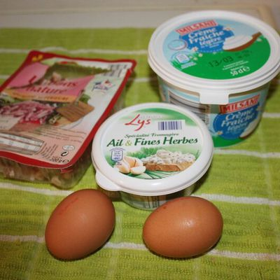 Oeuf cocotte et fromage au cookeo