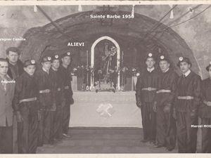 Fêtes de sainte-Barbe (1923 - 1924 - 1951 - 1956 - 1961 - 1962 à la mine, au jour, ou devant un café....