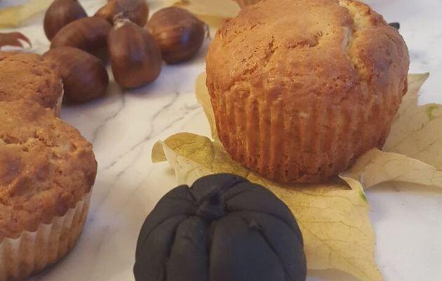 Muffins au yaourt & avoine et déco d'automne