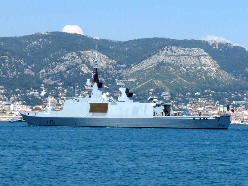 LA FAYETTE  F710 , Frégate type La Fayette (FLF) , arrivant au port de Toulon le 05 juin 2015