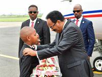 Arrivée de S.E Mohamed Abdullahi Mohamed, Président de la République Fédérale de Somalie