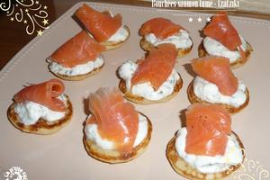 Bouchées saumon fumé - tzatziki