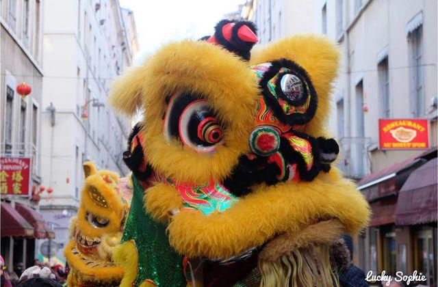 Nouvel An Chinois à Lyon, danse des lions