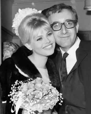 Peter Sellers and Britt Ekland marry at Guildford register office in 1964. Photograph: Hulton Deutsch/Corbis via Getty Images