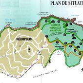 Plan du domaine et de la Réserve naturelle des Arbousiers - île du levant - domaine naturiste d'héliopolis, cité du soleil
