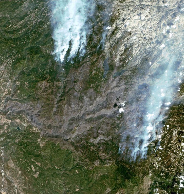 Quelques images MODIS des satellites Aqua et Terra et des payasages vues de la Tioga Road dans le parc Yosémite