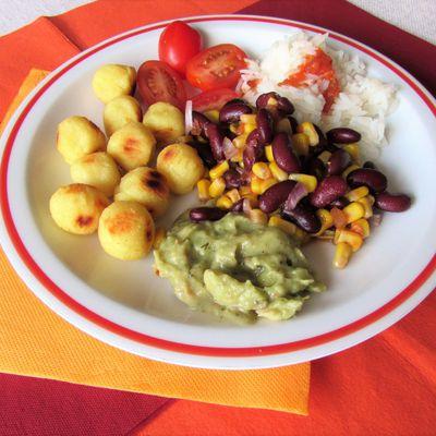 Assiette complète mexicaine