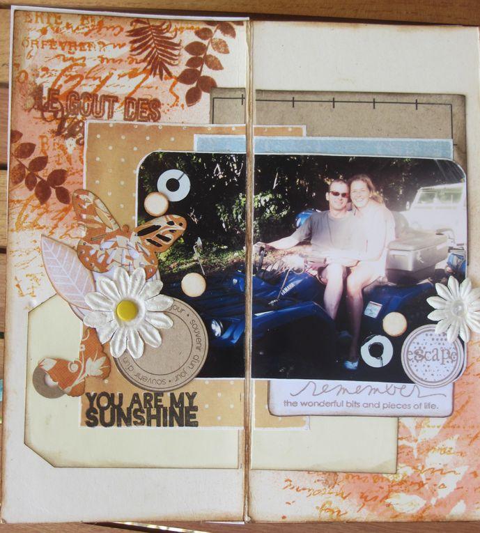 Mini fait avec un kit d'Elodie Touzet (Iggydodie) sur notre voyage de noces en Polynésie en septembre 2010)