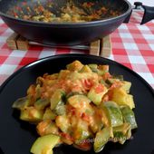 Poêlée de courgettes et tomates à la crème au curry -Light- - auxdelicesdemanue