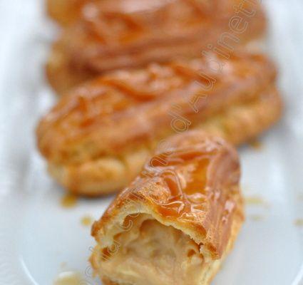 Eclair ou chou au caramel beurre salé