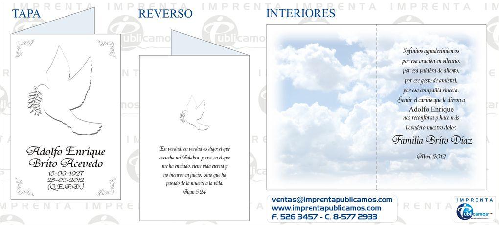 Diseños de Tarjetas de Agradecimiento de Condolencia - Whatsapp +56985772933 - +56930601037