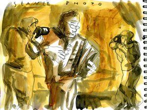 Richard Galliano, accordéon, melodica (acrylique)