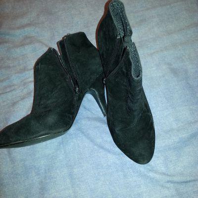 petite chaussure noir daims camaieu
