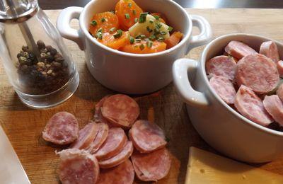 Cocottes de carottes, fenouil et diots au fromage, c'est bon !!!!!!