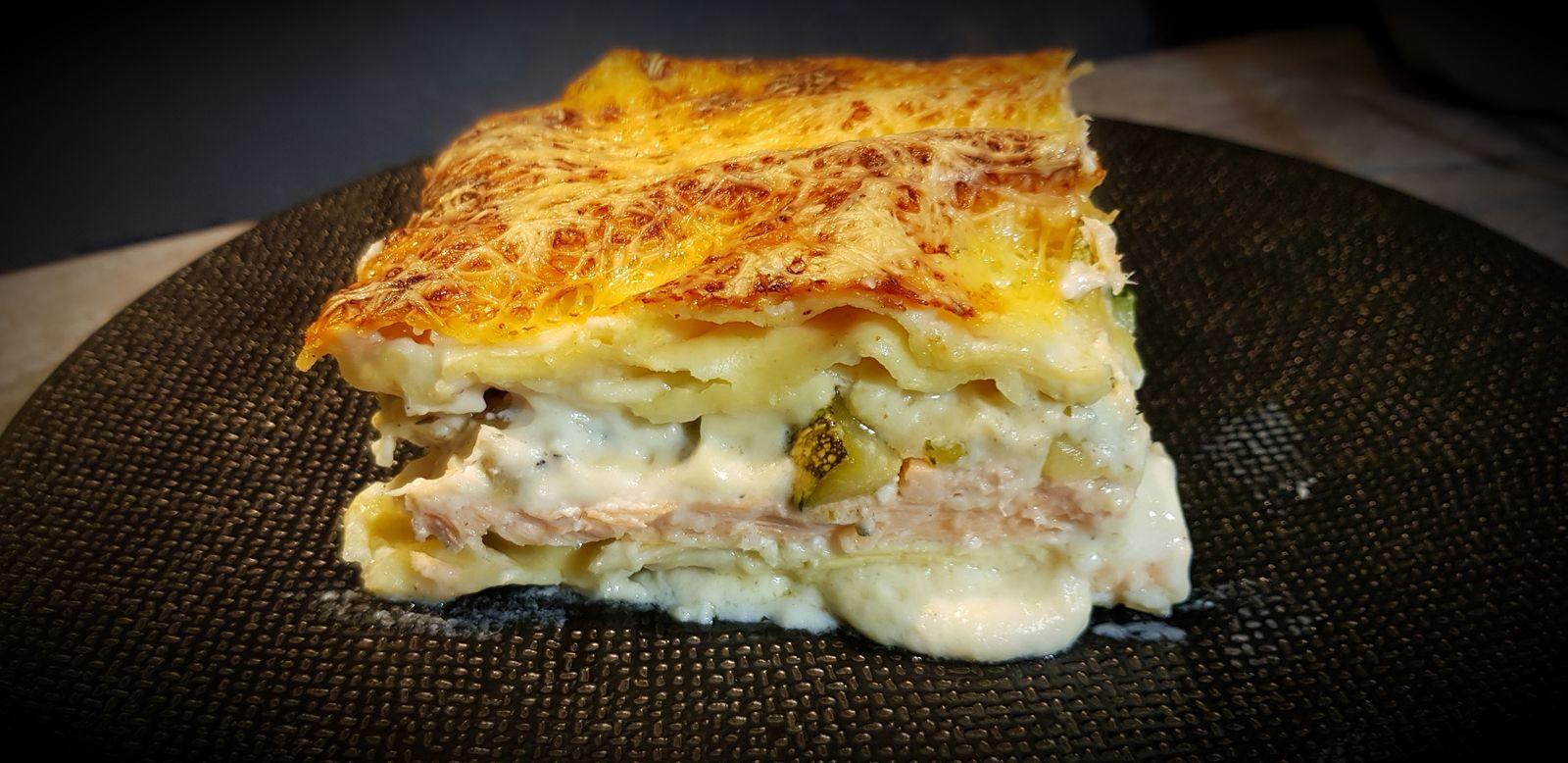Lasagnes au saumon et courgettes