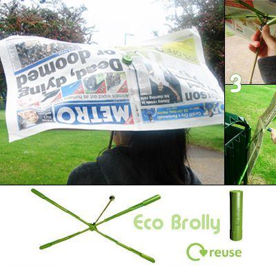 Eco-Brolly, un parapluie disons... adaptable