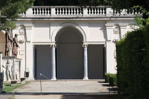 Villa Medici in Rome (Facade of the Grotto-Logia)
