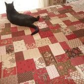 Double slice layer cake quilt - Tempus fugit