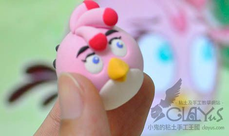 ANGRY BIRD Pink Lady (en pâte fimo) tuto images