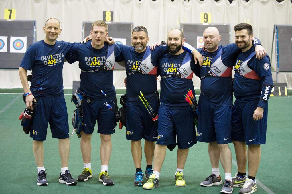 L'équipe des France des Archers du C.N.S.D