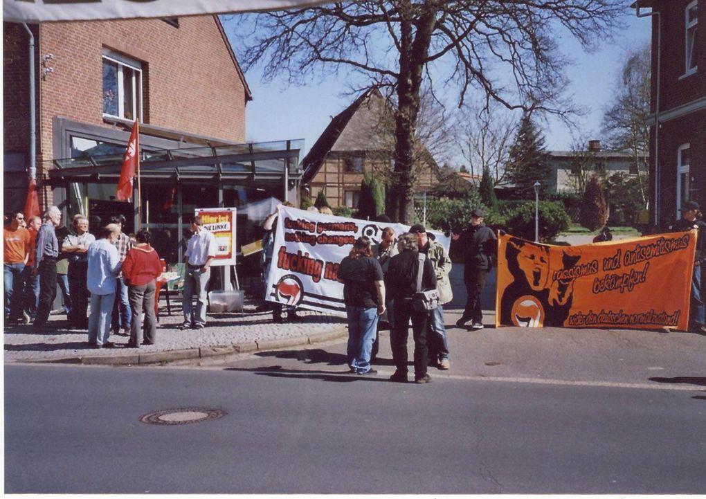 Fotos über die spontane Demonstration am 21.03.2008 in Dorfmark
