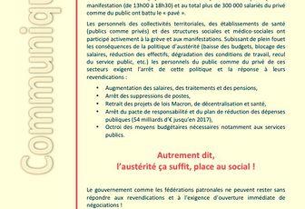 Grèves et manifestations contre l'austérité, la loi Macron et pour la hausse des salaires !