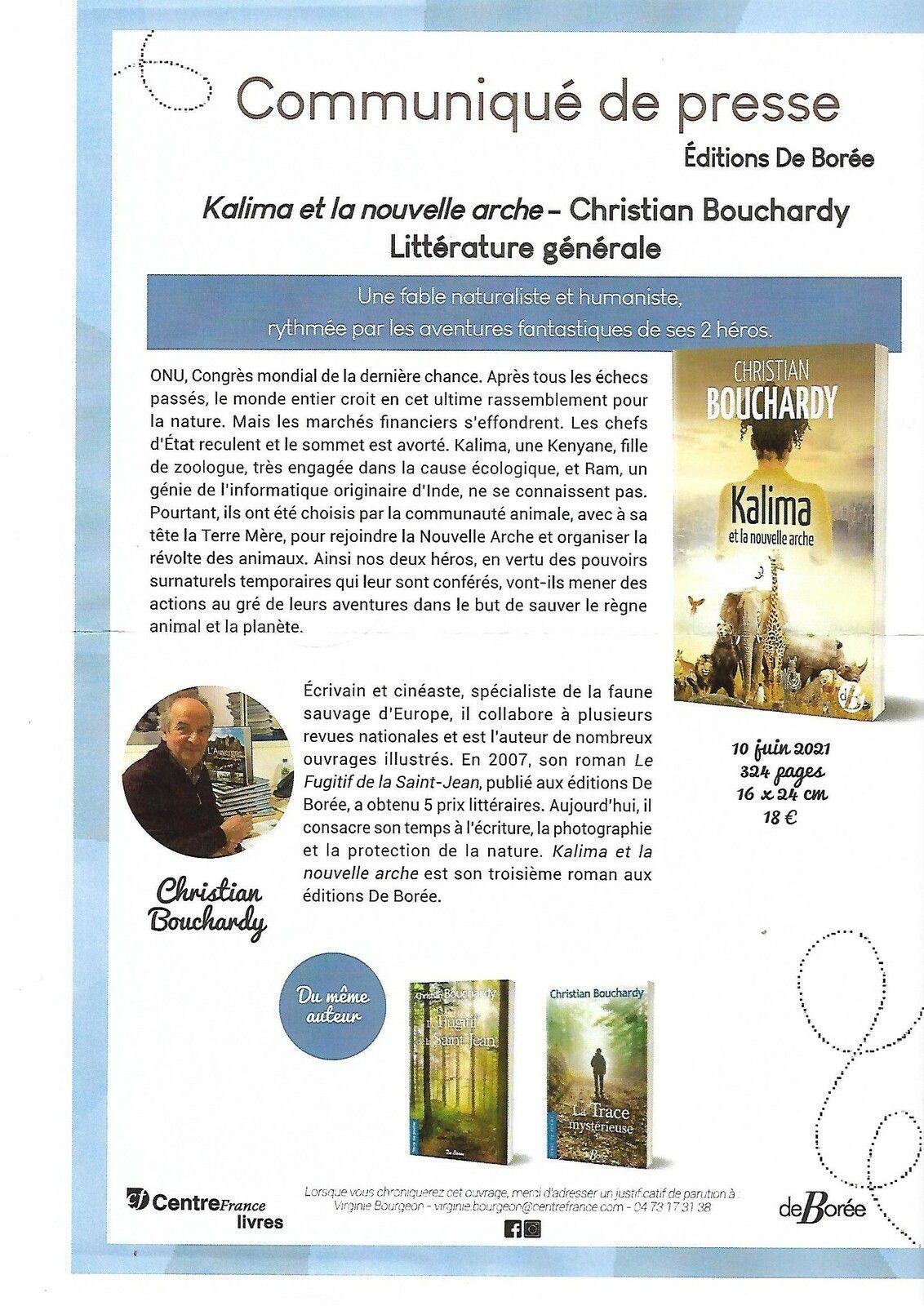 Kalima et la nouvelle arche de Christian Bouchardy