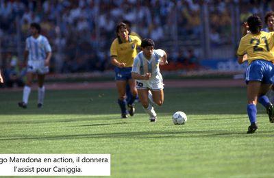 Coupe du Monde 1990 en Italie, Huitièmes de finale: Brésil - Argentine