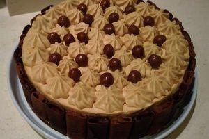 gâteau entremet chocolat et spéculos  sur feuilleté praliné