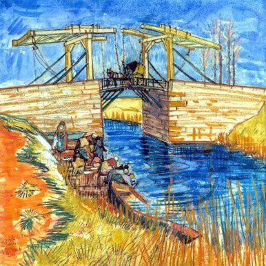"""Van Goghs berühmte """"Zugbrücke in Arles"""" kam in Görings Besitz aus der beschlagnahmten Sammlung der französischen Bankiersdynastie Rothschild"""