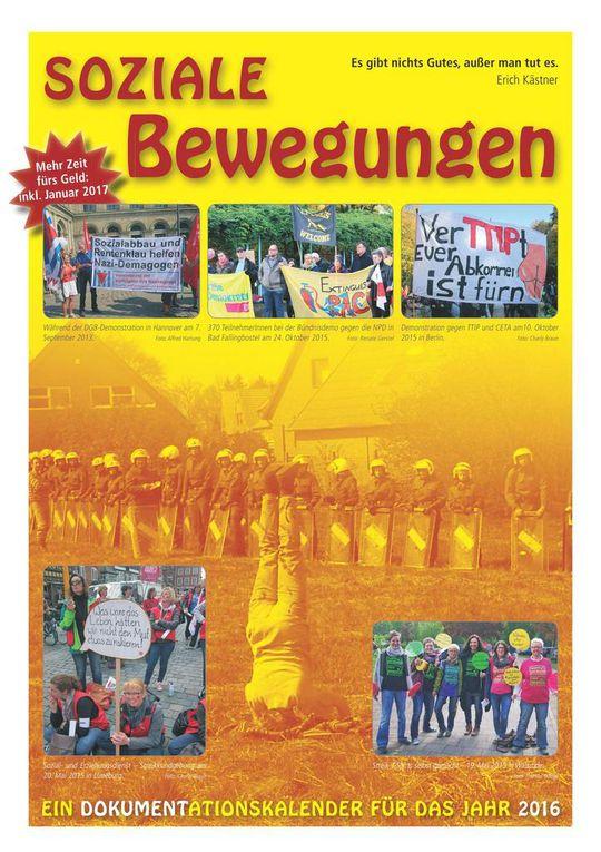 Kalender Soziale Bewegungen 2016