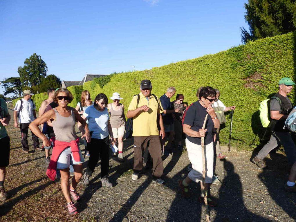 Les randonneurs au retour de leur marche.