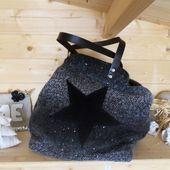 Sac cabas  XL en lainage pailletés  - Le blog de Secretdefemme