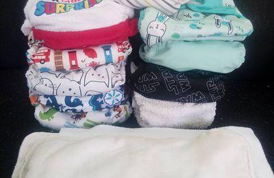 Les couches lavables que j'utilise et ma routine