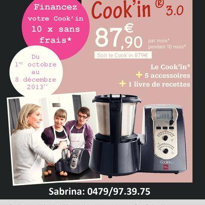 Cook'in... 10x sans frais!!!