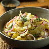 Salade tiède au thon, pomme de terre et cerfeuil