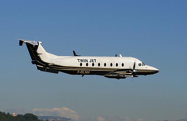 aerobernie Beech1900 Twin Jet en vol article