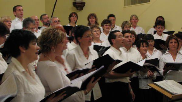 Quelques photos de notre prestation à l'église de PRINGY.