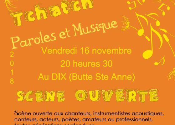 TCHATCH' PAROLES ET MUSIQUE - 16/11