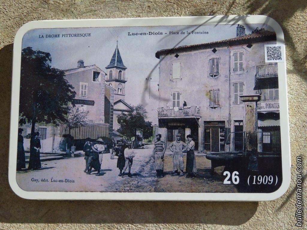 Vers la Place de la fontaine en 1908, 1909, 1927 et aujourd'hui